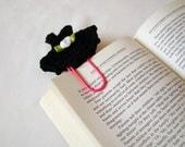 Crochet dress bookmark office gift ideas crochet heart small gift ideas thank you gift ideas teacher gift ideas paper clip black gift