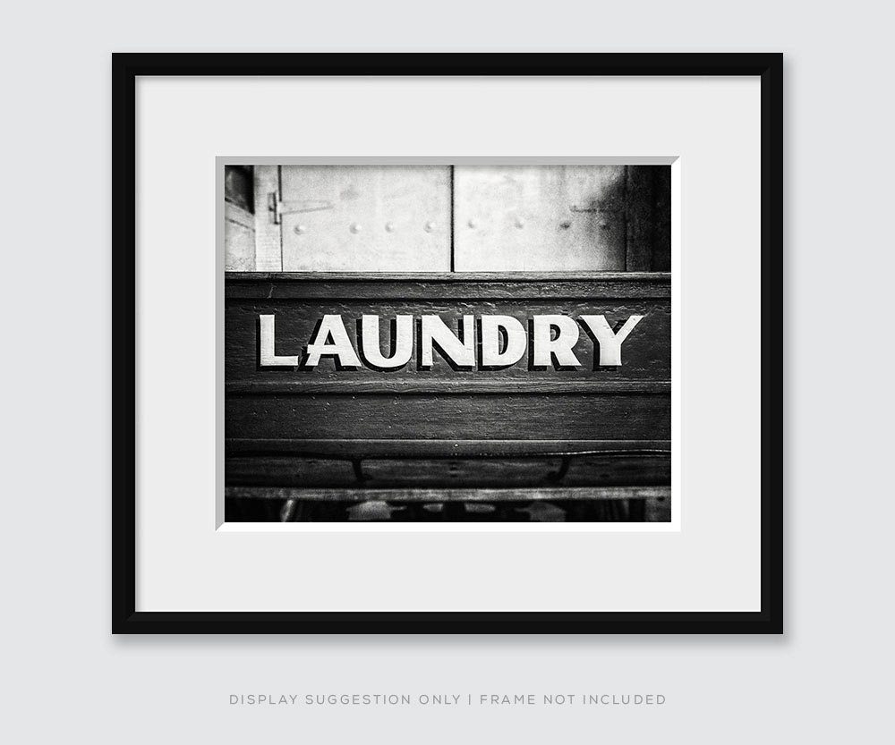 Black And White Laundry Room Print Or Canvas By