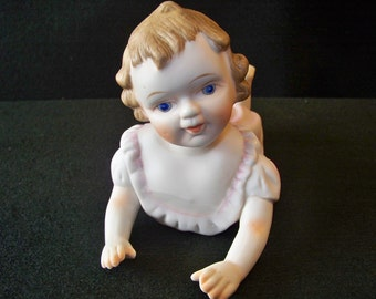 Vintage Bisque Piano Baby Girl