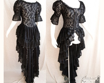 lace Victorian over dress, lace robe, gothic, steampunk, Somnia Romantica, approx size small - medium , see item details for measurements