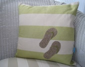 Flip Flops Beach Cottage Beach Decor Pillow Cover