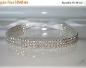 ON SALE Sparkle- Aurora Borealis Rhinestones Ribbon Headband, Wedding Headpiece, Crystal, Accessories, Bridal, Wedding, Hair Accessory