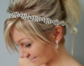 Wedding headpiece, headband, KENLEY, Rhinestone Headband, Wedding Headband, Bridal Headband, Bridal Headpiece, Rhinestone