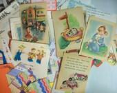 vintage journaling kit . vintage sewing supplies . DIY supplies embellishments vintage lace journaling supplies junk journal embellishments