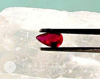 Ruby Red Pear Shape 7.1 x 4.7 MM Natural July Birthstone
