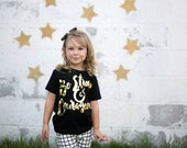 Strong and Courageous - girls graphic gold foil tee