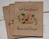 Personalized Wildflower Bunch Design MINI Seeds Let Love Grow Flower Seed Packet Favor Shabby Chic Rustic Cute Little Favors