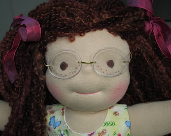 """RESERVED Custom Waldorf Girl Doll for Libby - 15"""" Girl"""