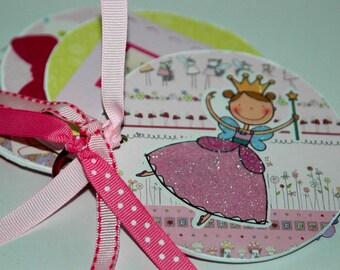 Princess Fairy premade scrapbook Sweet Girl Mini brag book Album- I love being a girl
