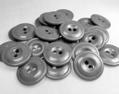 """Industrial Gray: 3/4"""" (19mm) Buttons - Set of 25 New / Unused Matching Buttons"""