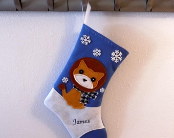 Lion Personalized Christmas Stocking by Allenbrite Studio