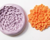Zinnia flower Mold #264 - silicone mold for crafts, jewelry, resin, porcelain, clay, candies, baking, plastic, metal and more uses.
