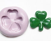 Shamrock mold 180 - silicone mold, craft mold, porcelain mold, jewelry mold, food mold, pop up mold, clays mold, flexible, play doh mold