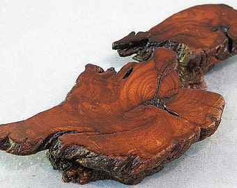 """Manzanita Burl Bonsai Mini Accent Display Table Stand 7.25"""" x 3.25"""" x 1"""" for Glass or Pewter Figurines, Crystals, etc."""