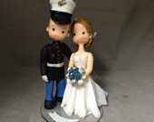 Marine Groom Wedding Cake Topper - FREE SHIPPING USA only - A498