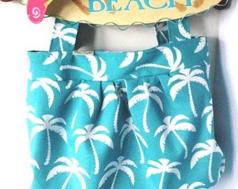 Aqua Palms  17 x 17 Extra Large Beach Tote