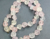 Hippie / BOHO Beaded Necklace ~ Frosred Lucite Beads ~ Pastel Colors ~ Retro / Vintage Gift For Her Birthday ~ Summer ~ estate  jewelry