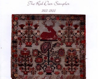 GiGi R: The Red Deer Sampler 1861-1866 - Cross Stitch Pattern