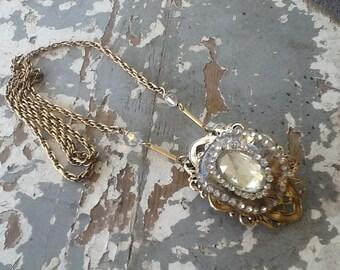 Boho Necklace, Long Boho Necklace, Repurposed Upcycled Recycled