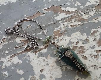 Boho Jewelry, Arrowhead, Long Necklace, Bohemian, Gypsy, Hippie Jewelry