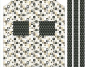 Ooh La La Riley Blake  Fabric Yardage, APRON PANEL, Black, C4862