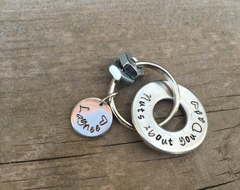 Nuts about you  Key Chain for  Father / Dad Thank You Gift