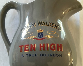 Hiram Walker's Ten High A True Bourbon Pitcher