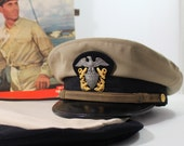 Navy Dress Uniform Hat and covers size 7 1/4