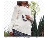 Basket Weave Sweater  - Crochet Pattern - Instant Download Pdf