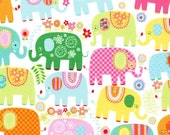 Michael Miller Fabric - Happy Elephants in Happy - By The Yard