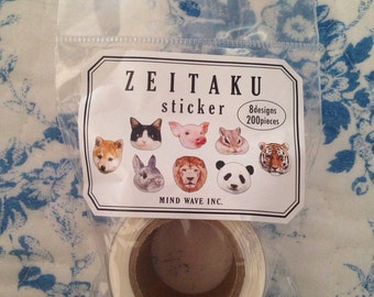 NEW 200 pieces Roll sticker Animals