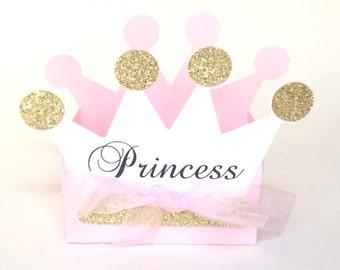 Princess Tiara Favor Boxes (set of 12), Princess Party Favors, Princess Baby Shower, Princess Theme, Princess First Birthday, Royal Birthday