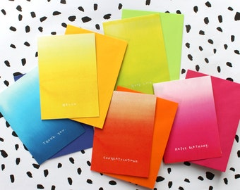 Really useful notecards - vibrant - colourful - notecards - blank inside