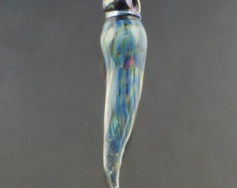 FRISKEY handmade Lampwork Glass Beads, Fairy Wing Focal
