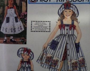 SUNDRESS & HAT Pattern • Simplicity 8145 • Girls 7-12 • Sundress and Shorts Pattern • Daisy Kingdom • Children's Patterns • WhiletheCatNaps