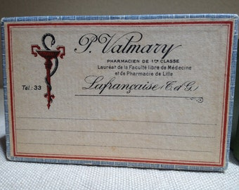 French vintage pharmacy boxes