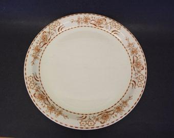 Vintage 1975 Shenango Restaurant China Platter w/Burnt Orange Flowers (E4366)