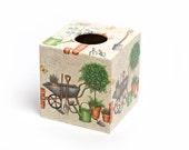 Gardeners World Tissue Box Cover wooden handmade