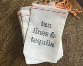 4x6 Mini Muslin Bags for Bachelorette Kits - Hangover, Party Kit