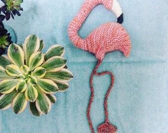 Flamingo knitting pattern