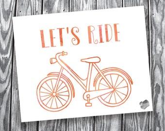 Let's Ride – Digital Print – 8x10 Landscape
