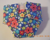 doll diaper #3 READY TO SHIP  washable Cloth flower garden fits cabbage patch bitty baby fur real monkey stuffed animals and more