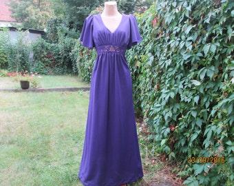 Long Dress  / Hippie Dress / Boho Bohemian Dress / Violet Long Dress / For Tall / Hippie Dress Maxi / Dress Size EUR40 / UK12