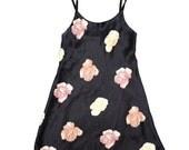Vintage Floral Slip Dress - Size M