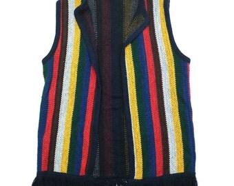 60s Hippie Knit Vest - One Size