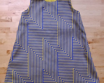 Japanese Cotton Stripes Fabric Sleeveless Dress For girls aged 2 Years old - 3 Years old.