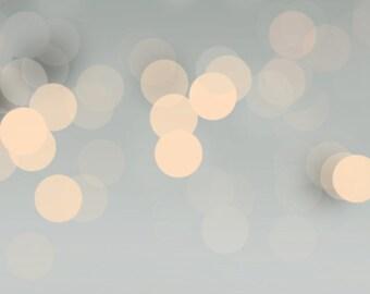 Premade Modern Bokeh Blog Header - Grey Gold Minimalist Design