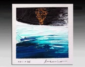 Original Abstract Painting,    Small  Painting on canvas  10x10 cm (~4x4 inches) Painting will come with mat.
