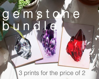 Gemstone Bundle Prints of Oil Paintings