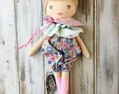 Bexley ~ SpunCandy Classic Doll, Heirloom Quality Doll, Modern Rag Doll, Nursery Decor, Kids Decor, Fabric Doll, Cloth Doll, HandmadeDoll